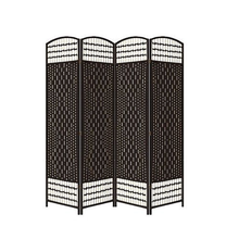 Black Portable Folding Canvas Price Room Divider Screen Partition
