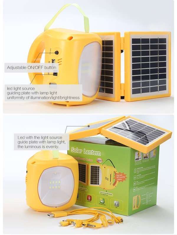 Wholesale high quality portable lantern with solar charger for mobile phone