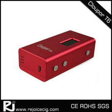 Original 100 watt box with temperature control systembox whole battery Cloupor T6 ecig mod 26650