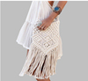 summer beach Long fringe tassel gypsy bag, handmade cotton woven gypsy bag(SWTJU1802)