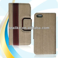 New wooden pattern wallet case for iphone 5s,Hybrid color case for iphone 5s
