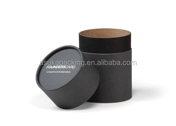 unique design handmade paper tube packing round cardboard box for wine