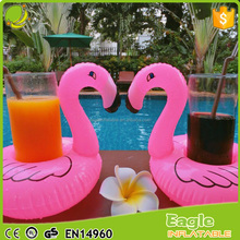 Fun Pink Flamingo Inflatable Pool Float and Pool Toy Drink Holder