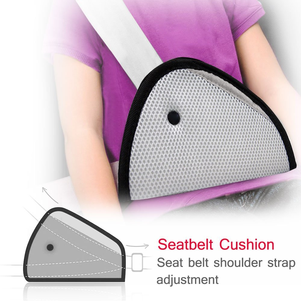 Wholesale carbon Fiber Embroidery Seat Belt Shoulder Pads for cars can be custom.