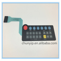 Membrane switch digital keyboard with 10 pins