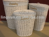 willow laundry baskets,wicker laundry baskets,The white color