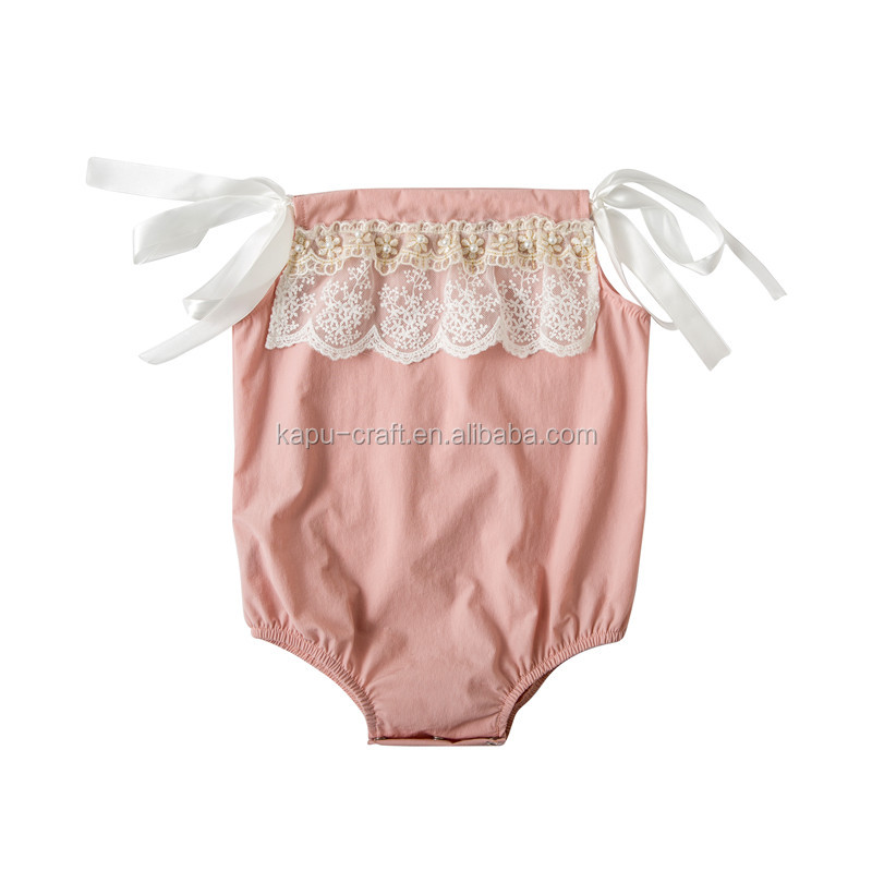 newborn baby girl clothes kids summer lace romper,plain white romper
