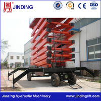 Mobile hydraulic scissor lift high rise window cleaning machine