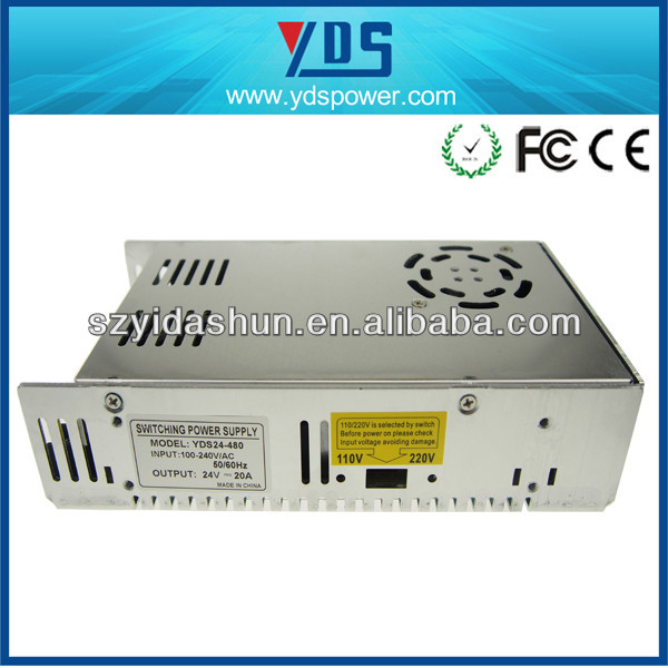 tagan power supply with 24V 20A , switching power supply for LED and CCTV