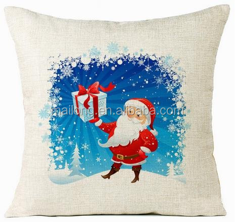 Manufacturers selling digital printing Christmas Santa Claus, Christmas gifts Linen pillow core PN6873