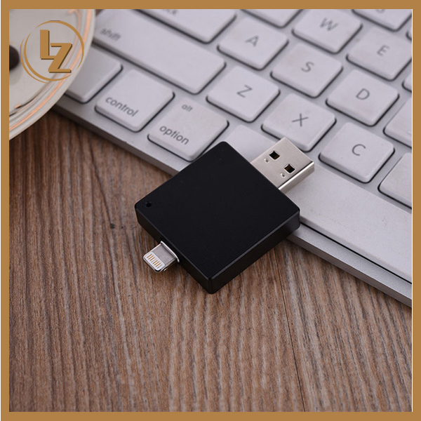 Hot Sale OEM Promotional Gift Rectangle 2 in 1 OTG USB for iPhone ipad OTG USB Flash Drive