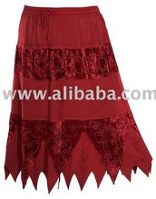Gothic Embroidery Renaissance Design Gypsy Woman Skirts