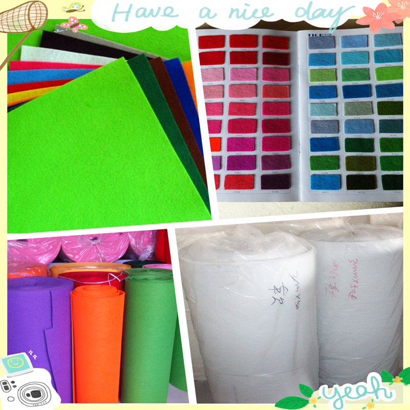 Customized natural and synthetic needle punched nonwoven fabrics felts