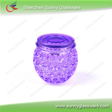 Customized colorful glass candle holder