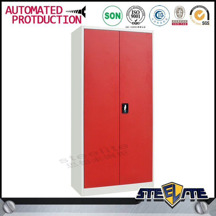 Factory direct sale low price metal clothes cabinet 2 door sample wardrobe in stock