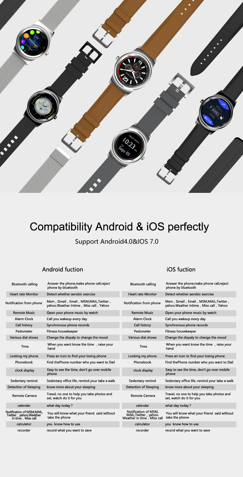 Luxury Design gps smart watch ces rohs android and ios oem smart watch for fitness