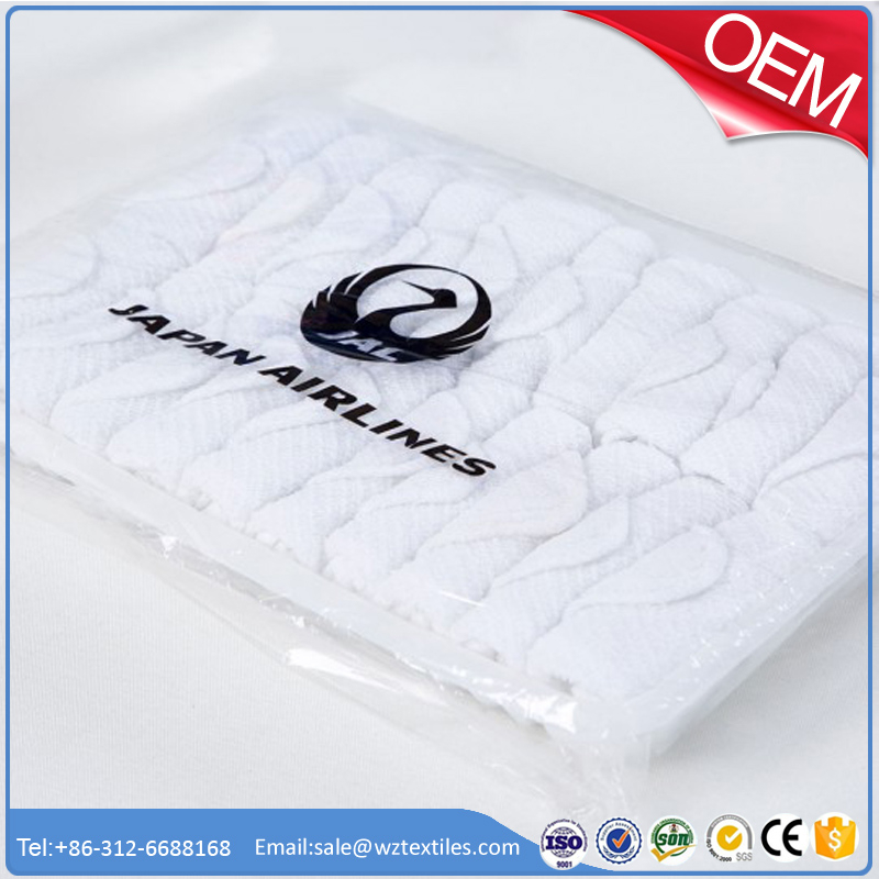 Iran Air cotton aviation towel disposable factory supplier