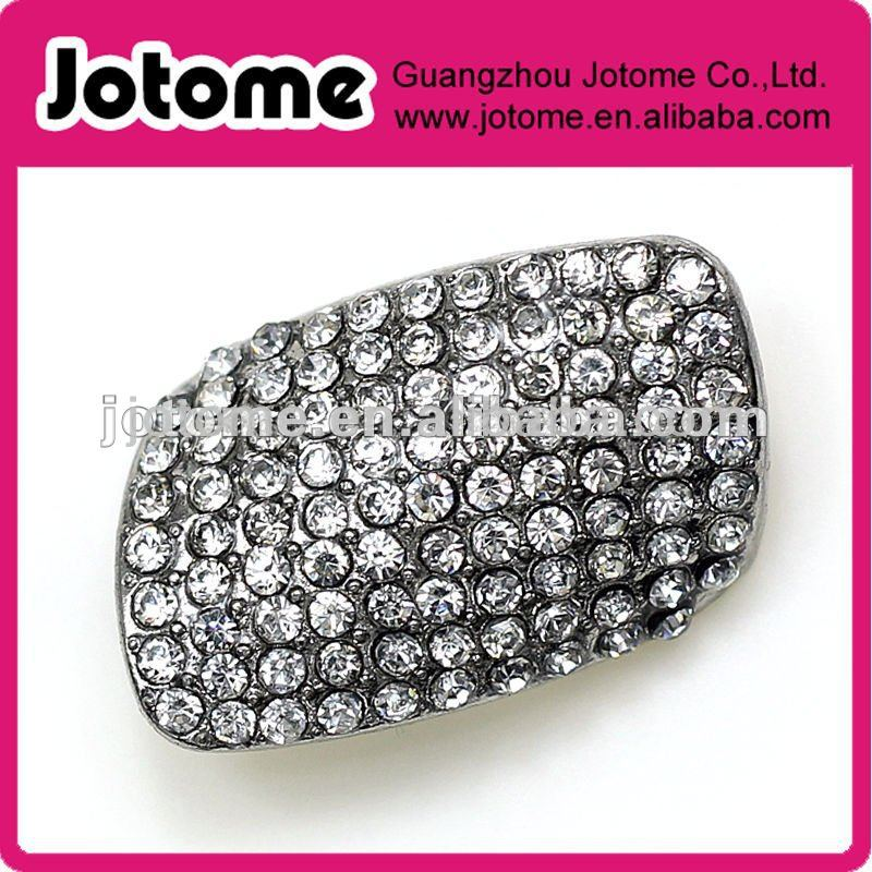 Fashion Rectangle Rhinestone button /Garment belt rhinestone buckle
