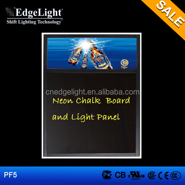 Edgelight PF5 writing menuboard for restaurants , RGB <strong>led</strong> full color , menu board slim <strong>led</strong> light box
