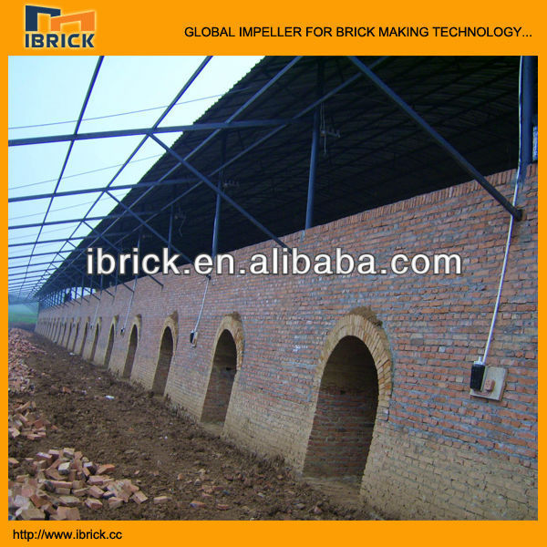 clay brick hoffman kiln building for india brick plant