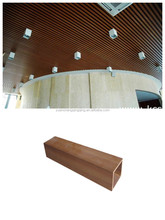 Special design which only we own in arc-shaped new wood plastic composite ceiling
