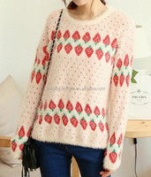 The strawberry pattern Mohair sweater