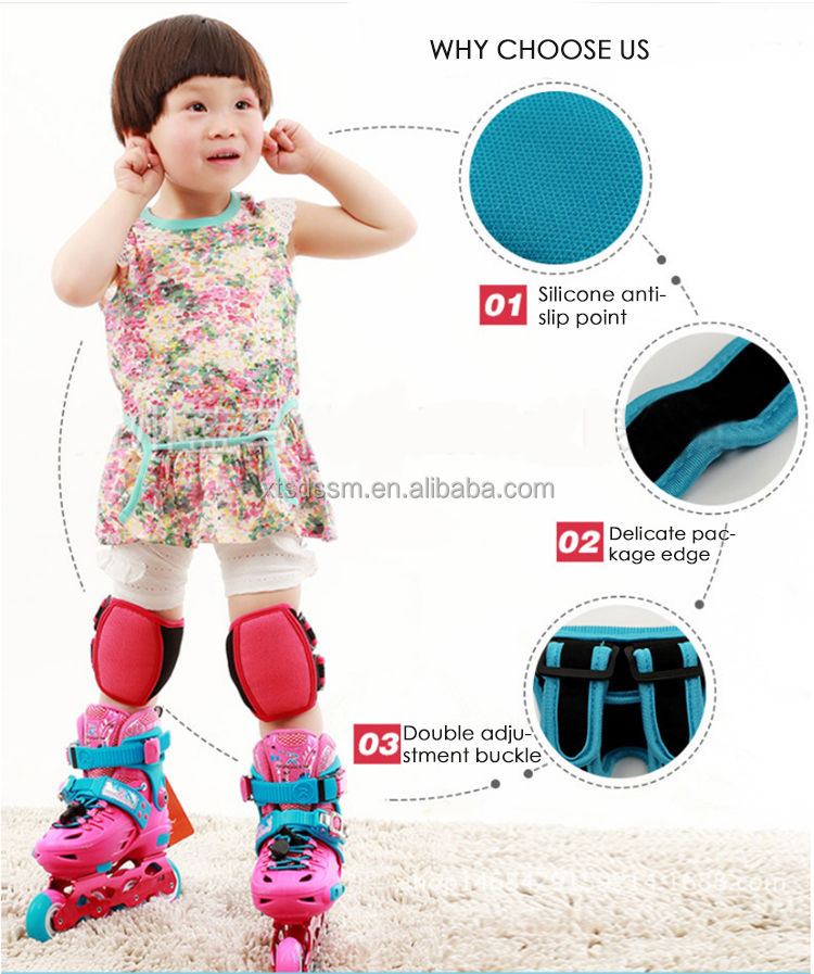 2017 wholesale children skating knee pad skating protector set Children Short Knee pad