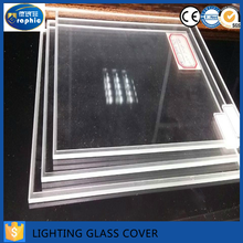 China Good Quality Ultra Clear Tempered Glass decorative Light Cover