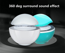 2017smart portable Led light wireless bluetooth speaker with stereo high sound quality, tf, fm radio, aux