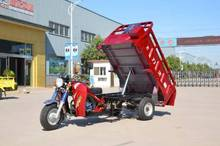 3 wheels motorcycle farm using tricycle with self-dumping cargo boxing