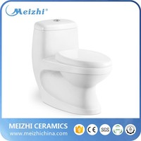 Sanitary ware one piece ivory toilet
