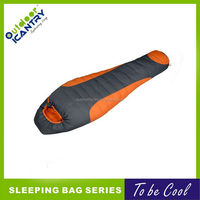 hollow fiber mummy extreme cold weather sleeping bag for wholesale