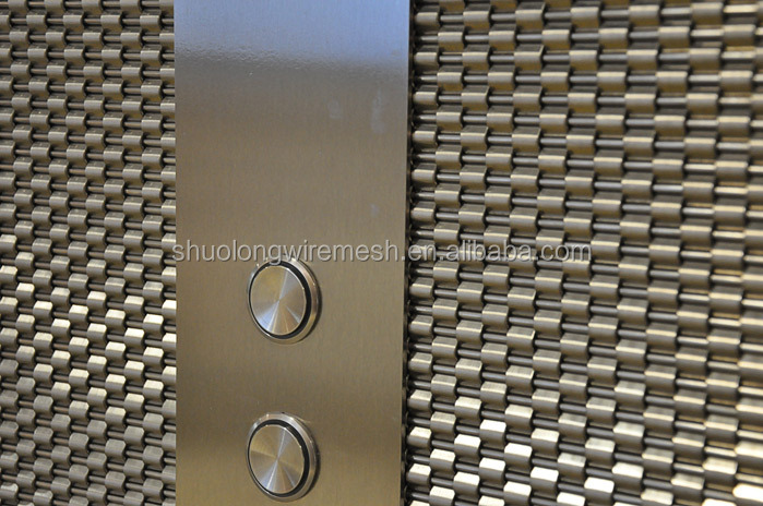 Stainless steel architectural decorative wire mesh elevator cladding(Manufactory & Exporter)