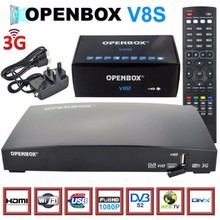 32USD USB Wifi Decoder Openbox V8S Wholesale Original V8S HD Satellite TV Receiver Support Youtube,3G,
