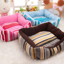 2017 new listing fashion stripes luxury comfortable pet sofa bed wholesale 70 * 70CM large size dog kennel