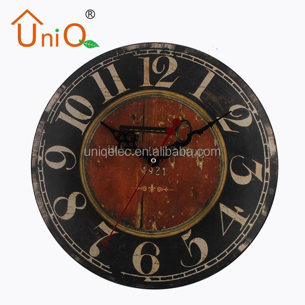 M1216 12'' hanging home decoration craft wall clock