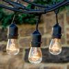 S14 String Light Company Vintage 48-Ft Outdoor Commercial String Lights with 24 Suspended Sockets and 24 Frosted S14 Bulbs