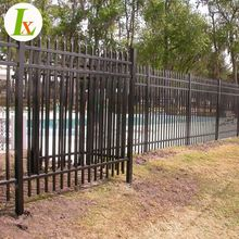 Decorative Villa Galvanized Steel Spear Top Wall Fence
