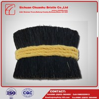 China wholesale pure pig bristles,black boiled bristle pig hair product