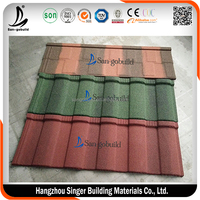 Roof tiles Type and Aluminum-Zinc,Aluminum/Zinc Coating Steel, Color Sand Material type of roofing sheets