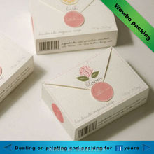 New design printed custom made paper soap box/ handmade soap packaging