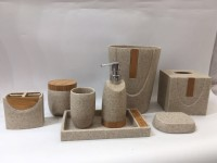 Hotel Bathroom Sets Bathroom Accessories with Wood