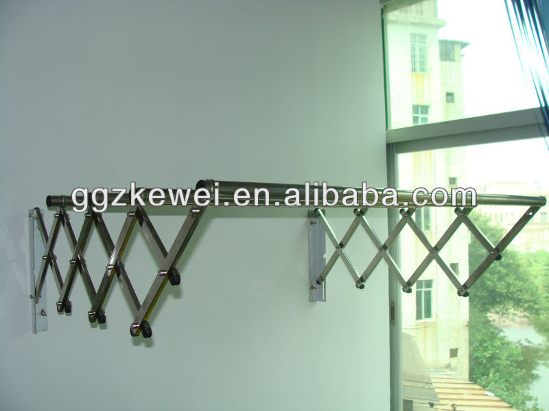 Stainless Steel Wall Mounted Retractable Clothes Hanger Rack for Malaysia