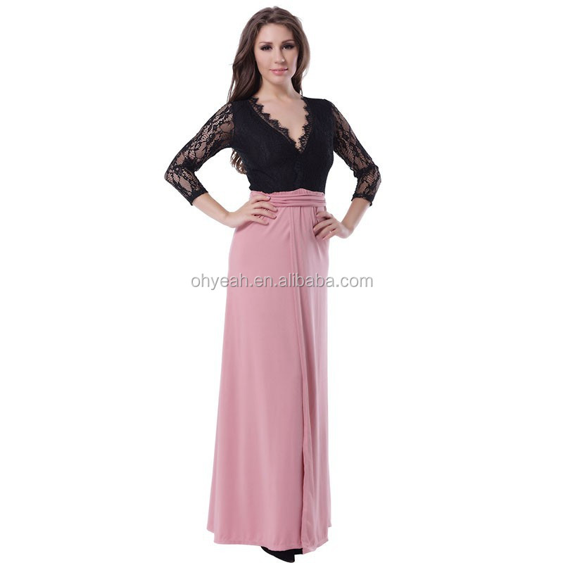 The hottest sale item half sleeve full length tall tube women sexy maxi dress