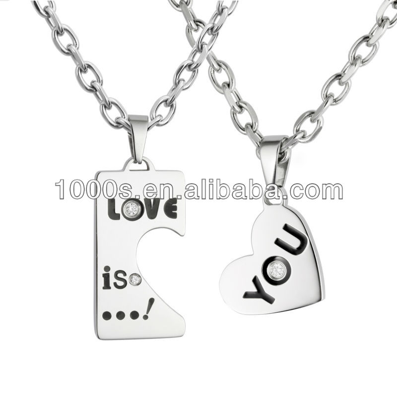 Lover stainless steel jewelry set