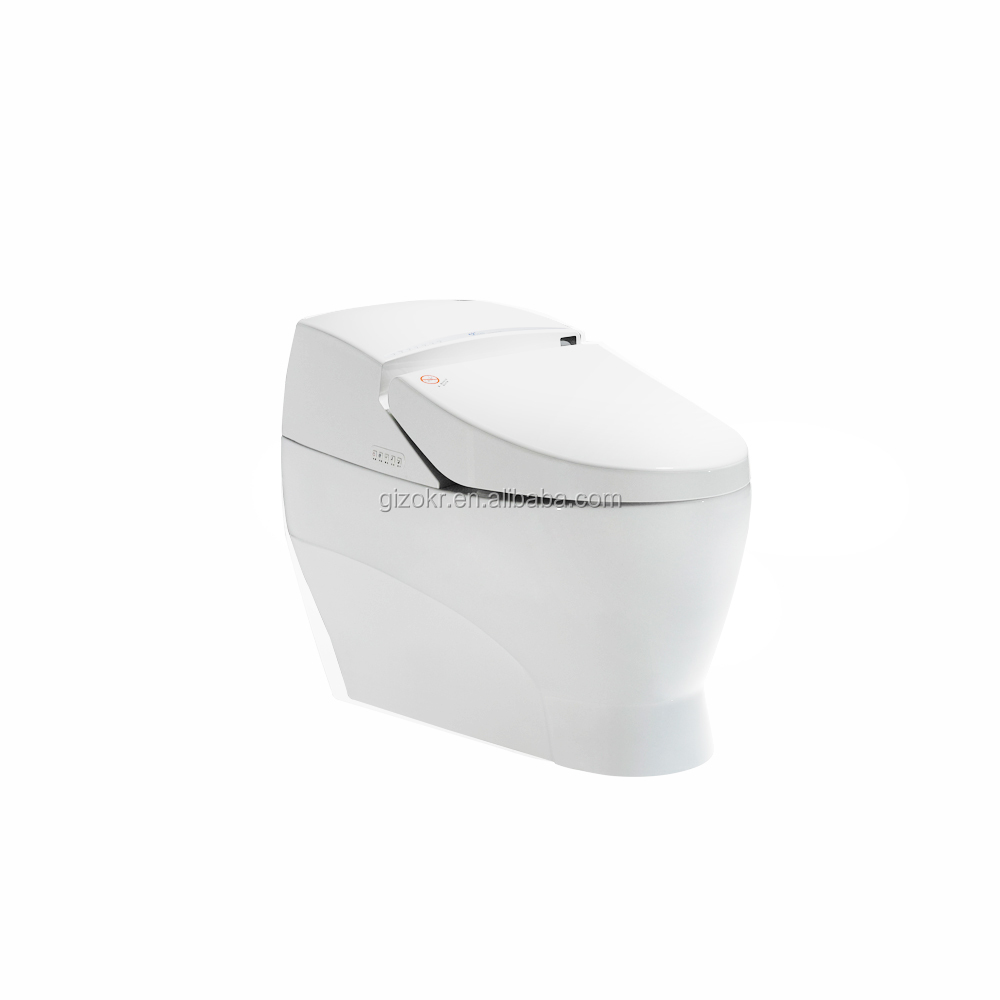 smart hot&cold water manual certificated seat toilet bidet one piece smart toilet