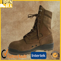 Coyote color suede cow leather cheap price Military Desert Boot