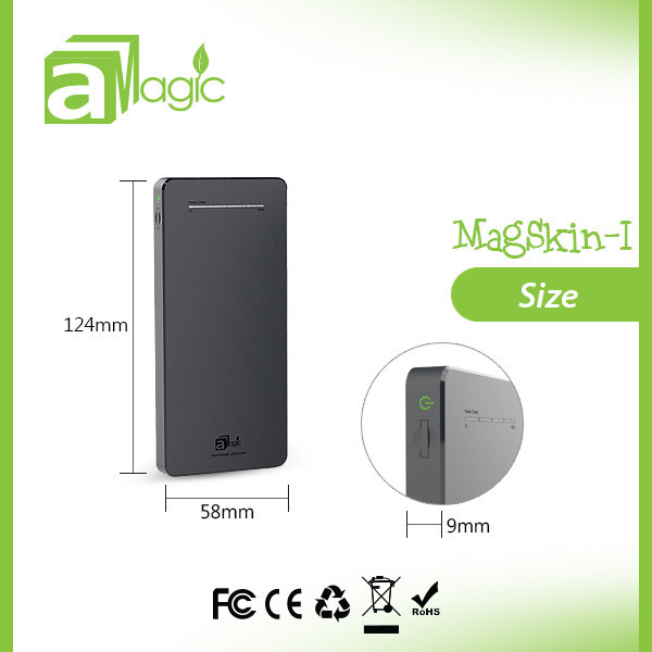 aMagic External battery pack with dual usb port 2.1A rapid charging with CE, FCC, RoHS