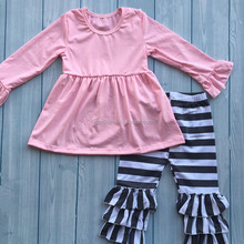 Girls pink dress boutique girl clothing giggle moon remake outfits custom design baby clothes