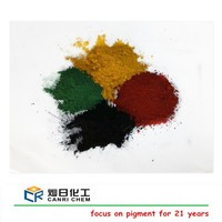Chemical synthetic pigments fe2o3 95% iron oxide red yellow and black pigment ink for paver block prices